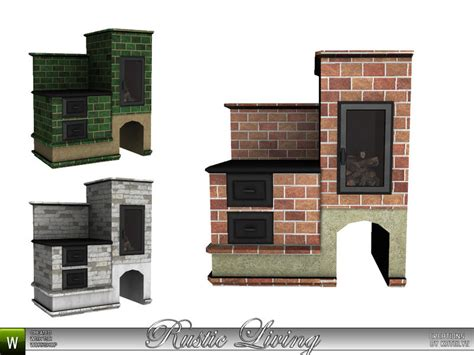 Sims Freeplay Fireplace by Katelys Rustic Living Wood Stove