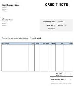Vat Credit Note Format What Is A Credit Note Explanation And Free Template