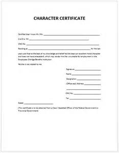 Character Background Template by Character Certificate Template Microsoft Word Templates