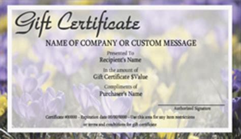 landscape certificate templates landscape and garden store gift certificate templates