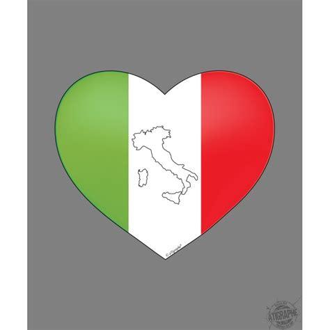 Sticker Auf Italienisch sticker italienisches herz f 252 r auto notebook oder