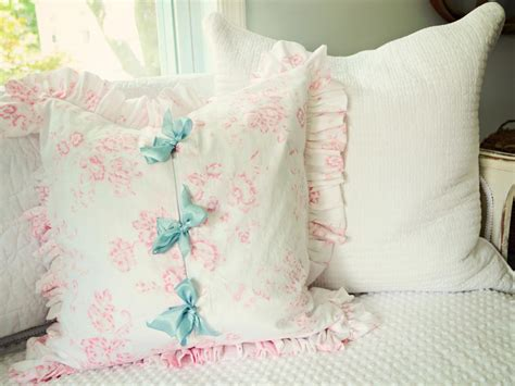 simple shabby chic ruffled pillow hgtv