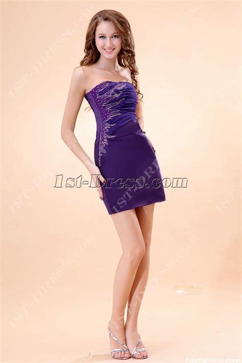Cute Purple Mini Graduation Dresses:1st dress.com