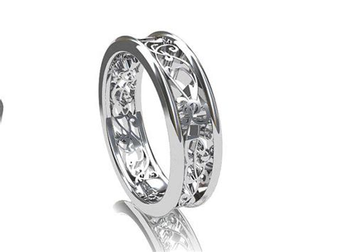 filigree wedding band white gold yellow from
