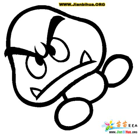 Free Coloring Pages Goomba Coloring Pages