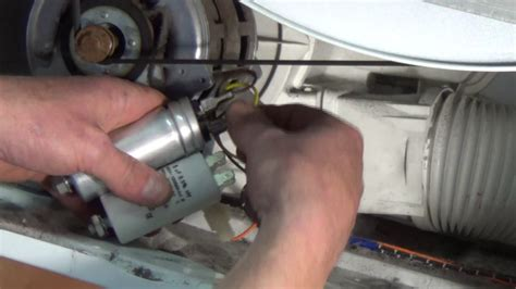 how to fix electric motor capacitor tumble dryer is not turning how to find the fault and replace motor capacitor