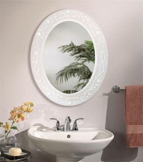 Fuschia Oval Bathroom Mirror Bathroom Mirrors Small Bathroom Mirror