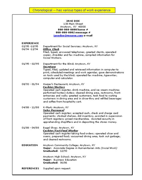 chronological resume format definition define chronological resume resume ideas