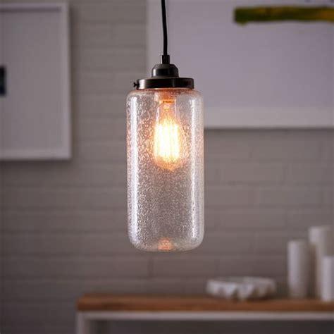 bubble glass mini pendant lights bubble glass jar pendant tall west elm