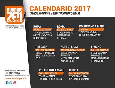 calendario stage running triathlon 2017 aggiornamen