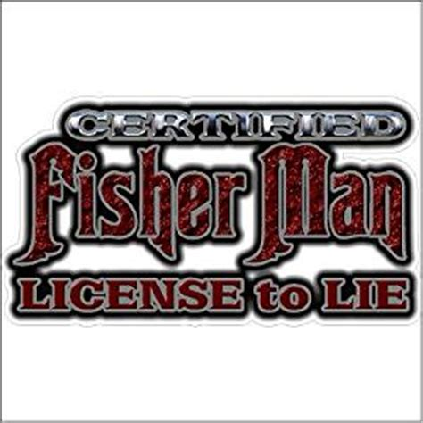 funny fishing boat decals license to lie funny fishing decal boat car
