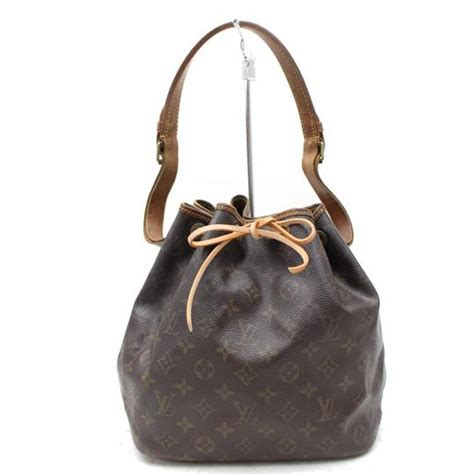 louis vuitton petit noe  monogram  brown canvas