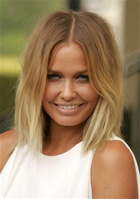 short hair soft ombre middle part bob blonde trend