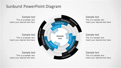 free powerpoint diagram templates free multilevel sunburst diagram powerpoint templates