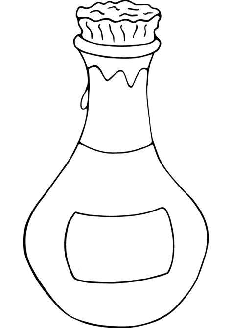 bottle template jar coloring coloring pages
