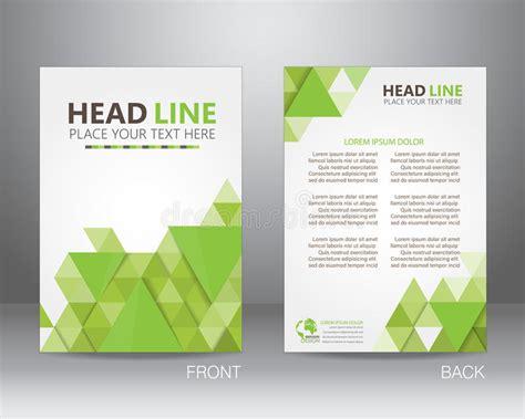 nature brochure template or flyer design stock ecology brochure design template vector stock vector