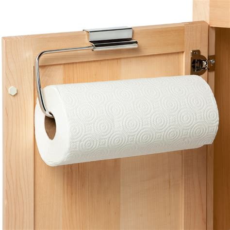 cabinet door paper towel holder stainless steel overcabinet paper towel holder the