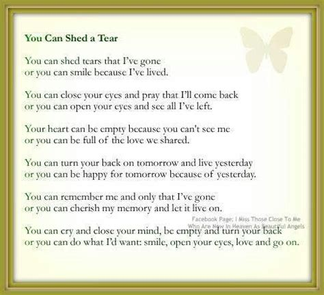 Poem You Can Shed Tears That He Is by Shed Quotes Like Success