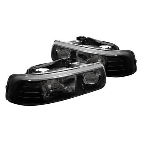 99 02 chevy silverado 1500 2500 black housing headlights