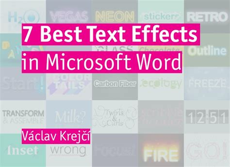 7 best text effects in microsoft word