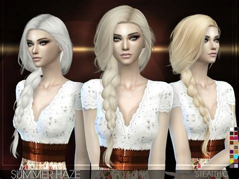 vanity female hair by stealthic at tsr sims 4 updates stealthic summer haze female hair