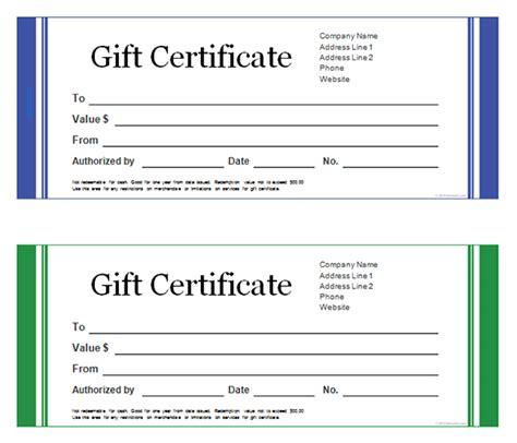 Printable Gift Certificate Templates   Sampleprintable.com