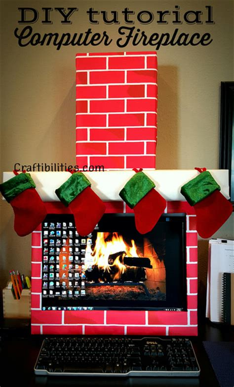 diy christmas cube decorations office idea fireplace computer cubicle diy decorations