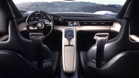 porsche concept interior porsche mission e electric concept interior design