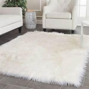 safavieh made faux sheep skin ivory rug 2 x 3