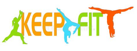 fit figures manual to keep fit and healthy keep fit stock vector illustration of eps10 activity