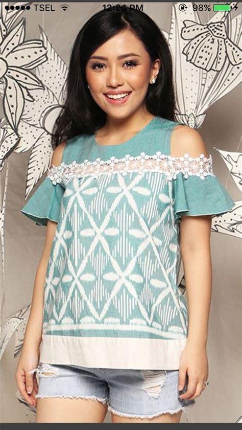 Blouse Brokat 7607 Best I Batik Images On Batik Dress