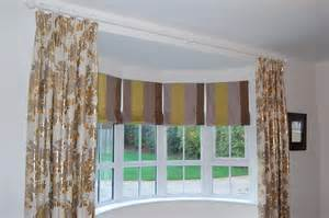 Bow Window Curtains Diana Murray Interiors Roman Blinds In Bow Window With