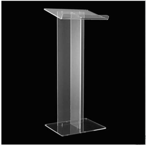 Podium Akrilik Mimbar Akrilik Acrylic Lectern Pd02 kualitas tinggi desain meja resepsionis beli murah desain