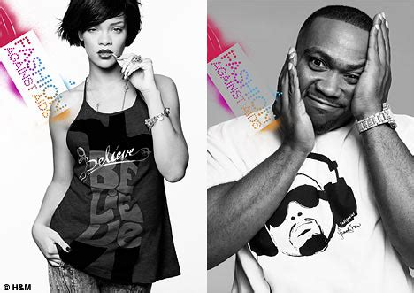 Fashion Against Aids With Rihanna by H M Launches Fashion Against Aids Collection Daily Mail