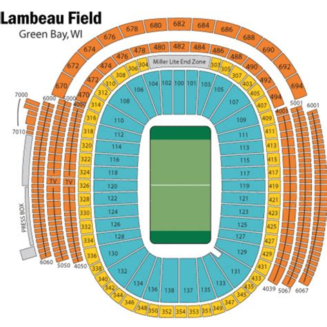 seating chart lambeau lambeau field football seating chart lambeau field
