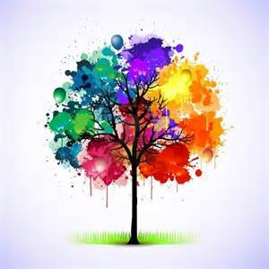 color wheel for tree colorful look closely there are balloons in the tree