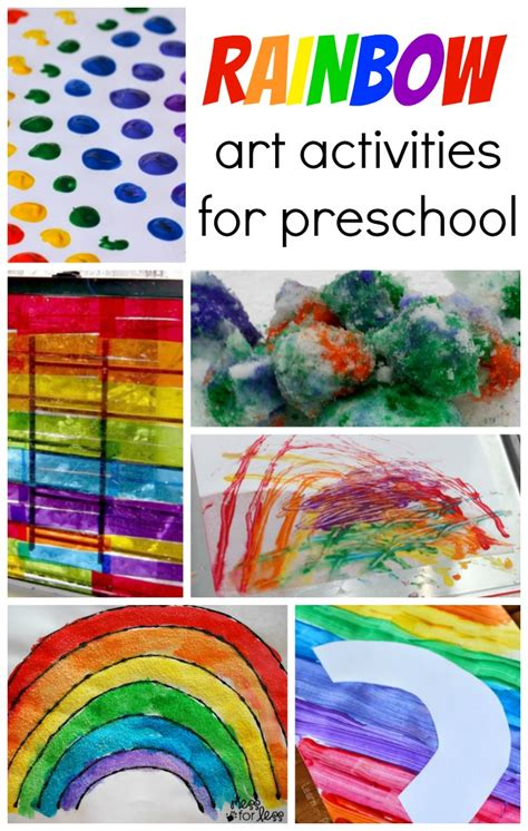themes for colour project rainbow art activities for preschool coffee cups and crayons