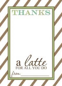 appreciation gift idea thanks a latte free