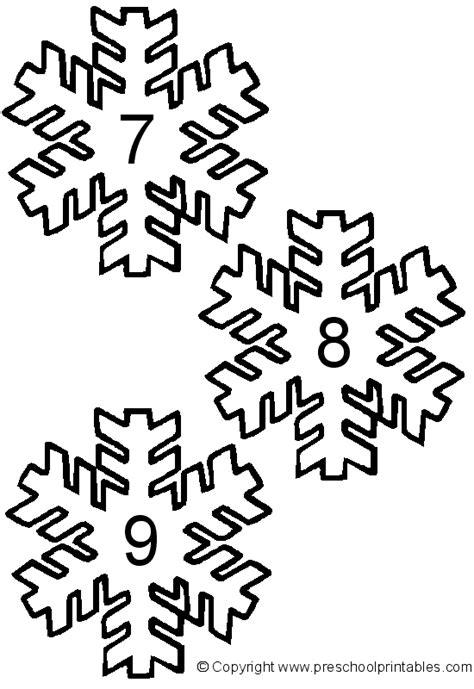 printable numbered snowflakes www preschoolprintables com file folder game snowflake