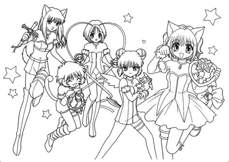 free tokyo mew mew power coloring pages