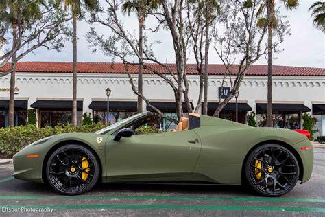 matte green maserati matte green ferrari 458 italia by platinum motorsport