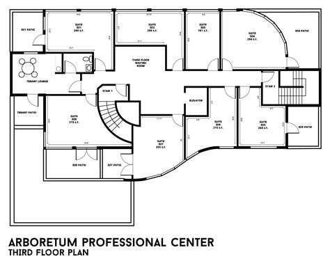 floor plan 3rd street building floor plans arboretum professional center