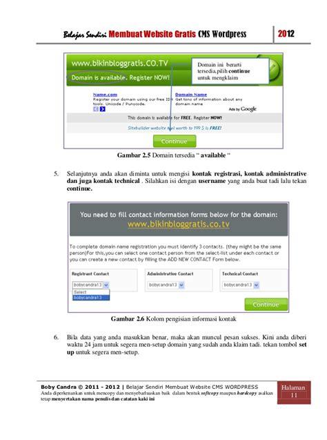 Membuat Website Cms Sendiri | cara membuat website gratis