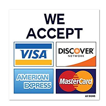 we accept cards sticker template we accept visa mastercard american express amex discover