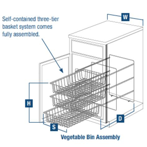 3 tier pull out vegetable baskets for kitchen base cabinet by knape vogt cabinet accessories 3 tier pull out vegetable baskets for kitchen base cabinet