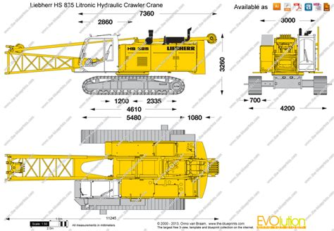 Online Plan Drawing the blueprints com vector drawing liebherr hs 835