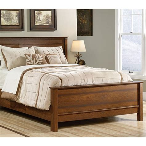cherry bed frame sauder carson forge washington cherry queen bed frame