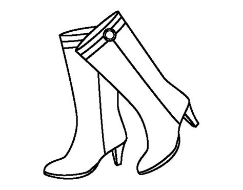 imagenes para colorear botas navideñas dibujo de botas altas para colorear dibujos net