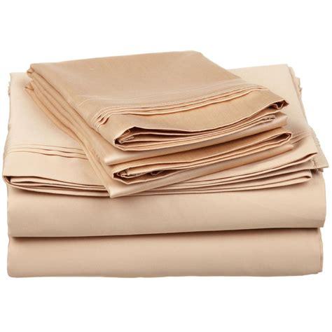best thread count for cotton sheets soft sheet set 650 thread count premium staple cotton 16 colors ebay