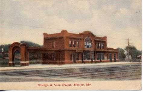 chicago alton rr depot mexico mo by carl h